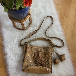 Patricia Nash tooled leather crossbody bag NWOT